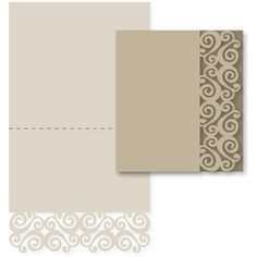 Silhouette Design Store - View Design #11387: double swirls card base