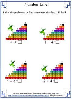 stairs number line worksheet