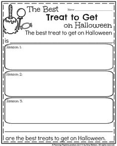 Opinion Writing Prompts for Halloween - The Best Treat to Get on Halloween First Grade Writing Prompts, Opinion Writing Prompts, Second Grade Writing, Writing Prompts For Kids, Writing Lessons, Writing Ideas, Narrative Writing, Writing Rubrics, Paragraph Writing