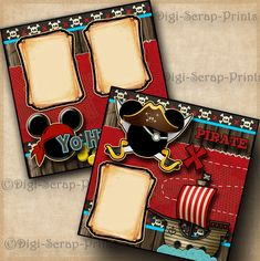 DISNEY PIRATES OF THE CARIBBEAN 2 premade scrapbook pages paper layout DIGISCRAP #DigiScrapPrints