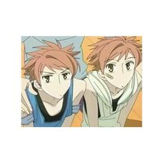 Photo Hikaru and Kaoru - sevenload ❤ liked on Polyvore featuring anime, ouran high school host club, ouran, drawings and ohshc