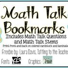 Freebie: Students must be able to talk about what they know in math. It is super important that they can explain themselves and ask each other questions abo...