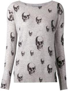 Cashmere Skull print pullover