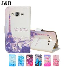 For Samsung Galaxy J3 2016 J320 J320F J320P J3109 J320M J320Y SM-J320F Case Skin Stand Style Magnet Flip Wallet Cover Phone Bag