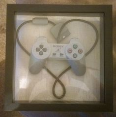 Playstation Heart wire wrap controller art by StickDragonProducts