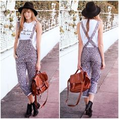 #overalls #fashion #style #summer #hat
