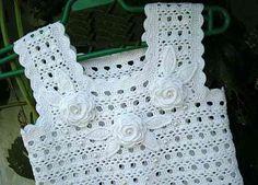 Vestidos tejidos a crochet para bebé 0-3 meses - Imagui