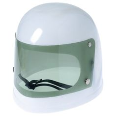 This Plastic Children's Space Helmet is the perfect way to complete your child's astronaut or space adventurer costume. This helmet is made of white plastic with a snap on visor and adjustable strap.