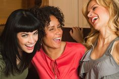 Enjoying a great laugh with your girlfriends