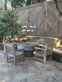 Pretty mill stone table.