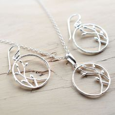 Silver Bud Loop Jewellery Set