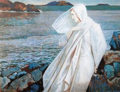 Turn of the Tide by John Duncan Scottish symbolist- Fairy Music, Renaissance, John Duncan, Duncan Grant, Into The West, Portraits, Pre Raphaelite, Paul Gauguin, Art Uk