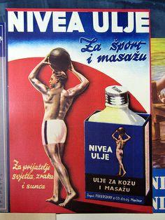 Historic Croatian Beefcake Ad in History Museum Zagreb IMG_3025