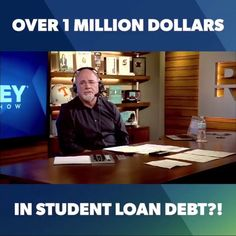O-N-E MILLION DOLLARS!?!?!?!?!?!?!  This is not a JOKE~You have to listen to this story of a dentist that has a TON of student loans. Dave not only educates, but offers FREE HELP to this family to get out of this student loan MESS!!  Stories like this is why I LOVE being a financial coach with Dave's team, I get to help families like this everyday to realize there is a way out and they don't have to be a salve to their debt!  https://www.facebook.com/daveramsey/videos/10155598610975886/