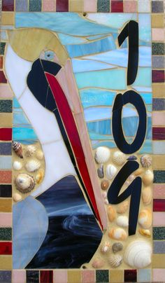 Custom Made Mosaic House Numbers Signs. $60.00, via Etsy.