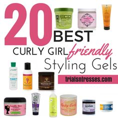 20 Best Curly Girl Friendly Styling Gels I get asked often about the different stylers I put in my hair in regards to if the product is Curly Girl Method Approved. Curly Hair Tips, Curly Hair Care, Hair Care Tips, Curly Hair Styles, Natural Hair Styles, Curly Hair Routine, Style Curly Hair, Styling Gel, Natural Hair Gel