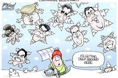 Monitor Political Cartoons: Blizzard, GOP, Election2016, Politics