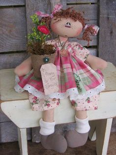raggedy Ann cloth doll pattern