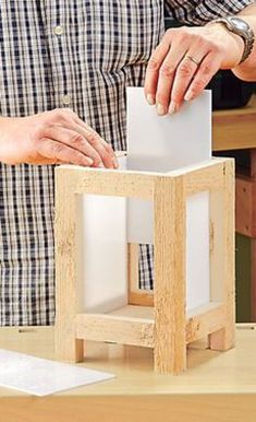 Build your own garden lanterns: Step 6 of 10 - wood crafts Lantern Candle Holders, Diy Lantern, Lampe Decoration, Garden Lanterns, Rustic Lanterns, Wooden Lamp, Diy Holz, Wooden Crafts, Woodworking Projects Plans