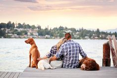 You have to see how this man proposed by the lake with all three of their dogs! Such a perfect love story. <3