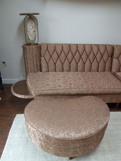 vintage sectional sofa | Vintage Newport Chesterfield sectional sofa with hideaway spaghetti ...