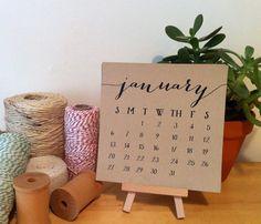 2014 Desktop Calendar with Mini Easel