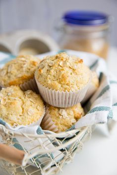Fast Healthy Breakfast Recipes : Whole Grain Maple and Brown Sugar Oatmeal Muffins #Breakfast