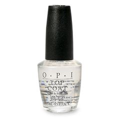 OPI's top coat keeps my polish shiny and smooth and protects against chips all week long between manicures.