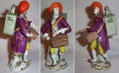 A very rare porcelain Meissen figurine of a lanternist carrying the magic lantern on his back while playing the hurdy-gurdy. It measures 15 cm tall. http://luikerwaal.com/kunstkitsch_uk.htm