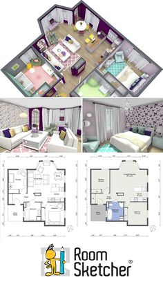 Why use costly and complicated CAD software to create a floor plan or design a room? Create the professional interior design drawings you need - quickly, easily and affordably with RoomSketcher Home Design Software www.roomsketcher.... #interiordesign #onlineinteriordesign #interiordecorating #homestaging