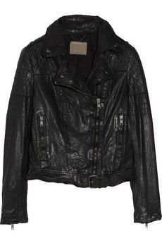 Minsk quilted washed leather biker jacket Muubaa THE OUTNET