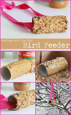 89 Unique DIY Bird Feeders – Full Step by Step Tutorials - Easy Crafts for All Spring Art Projects, Spring Crafts, Craft Projects, Diy For Kids, Crafts For Kids, Bird Feeder Craft, Cardboard Rolls, Homemade Bird Feeders, How To Attract Birds