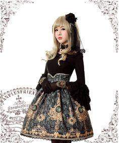 fanplusfriend - Ten O'Clock Cinderella, Rococo Lolita Elegant Gothic Steel Boned High Waist Skirt*2colors Instant Shipping, €65.48 (http://www.fanplusfriend.com/ten-oclock-cinderella-rococo-lolita-elegant-gothic-steel-boned-high-waist-skirt-2colors-instant-shipping/)