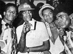 Brothas kickin' it at a 1980s Baile Funk (Funk Dance) in Rio de Janeiro.