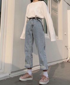 Grunge Outfits, Cute Casual Outfits, Mode Outfits, Retro Outfits, Fashion Outfits, Fashion Fall, 90s Style Outfits, Hijab Fashion, Fashion Trends