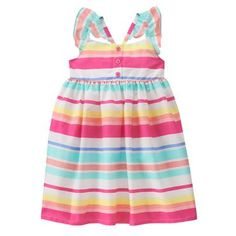 Toddler Girls Peach Stripe Striped Dress by Gymboree