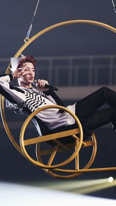 Park Chanyeol, the supposedly badass rapper who completely changes whenever he's offstage and not performing