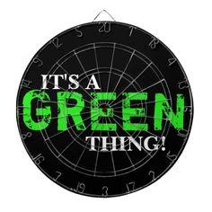IT'S A GREEN THING! DARTBOARD
