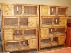 DIY Guinea-pig cages (neat idea and saves room)