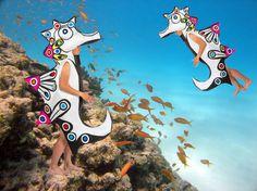 Extravagantes Karnevalskostüm für Gruppen, Individualisten und Freund der Meere. Das Seepferdchen