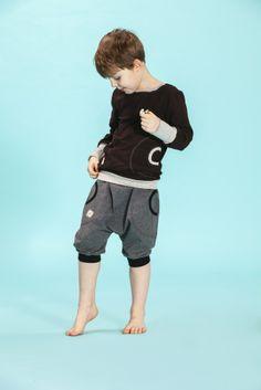 Jenni J.J.  Short Pants- DGray/Black  www.jennijj.fi