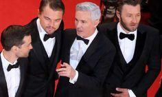 Klassisch mit Satin- Revers: Tobey Maguire, Leonardo DiCaprio, Buz Luhrmann und Joel Edgerton in Cannes