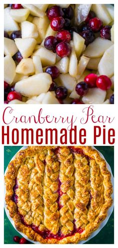 Cranberry Pear Pie - Baker by Nature
