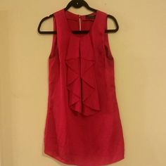 "Club Monaco berry red blouse Excellent condition, It comes unhemmed. Length 26"" size s/p Club Monaco Tops Tunics"