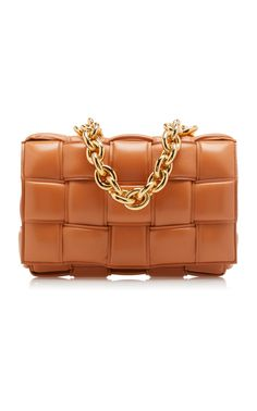 The Chain Cassette Padded Leather Crossbody Bag  by BOTTEGA VENETA Now Available on Moda Operandi White Crossbody Bag, Metallic Skirt, Unique Bags, Bottega Veneta, Fashion Accessories, Shoulder Bag, Purses, Chain, Shoe Bag