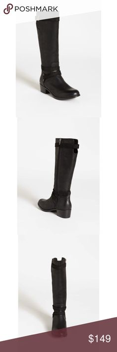 UGG Darcie Black Tall Riding Boot 7.5 Authentic UGG tall black Darcie riding boots. Comes with original box and tissue paper. These are in like new condition. Only worn once. No signs of wear except on rubber sole from being on concrete one time. Fits true to size. UGG Shoes Winter & Rain Boots