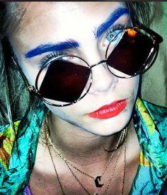 Cara Delevingne wearing Le Specs