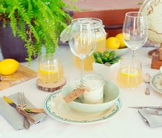 {DIY} TABLE DE FÊTES LEMON