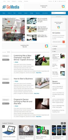 GoMedia Responsive WordPress Magazine Theme