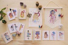 Os traços soltos e as cores escolhidas intuitivamente não falham. Amanda Mol é uma ilustradora que trabalha com todo seu coração. Confira entrevista!